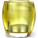 Свічка у склі жовта Bolsius 77*72мм