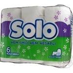 Рушник кухоний Solo білий 6шт