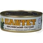 Паштет Мисливський гострий Галицький смак 250г
