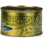 Fish sardines Gold fish in oil 240g can Ukraine
