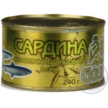 Сардина бланшована в олії Gold Fish 240г