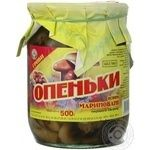 Mushrooms honey fungus Volyn lis pickled 500g glass jar Ukraine
