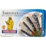 Сардины Вижиланте в масле со специями 120г железная банка Испания