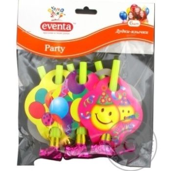 Дудки-язычки Eventa пластиковые с декором 6шт - купить, цены на Novus - фото 3