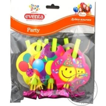 Дудки-язычки Eventa пластиковые с декором 6шт - купить, цены на Novus - фото 2