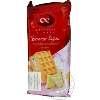 Waffles Akulchev Viennese 150g packaged Russia