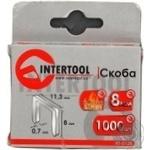 Скобы Intertool 1000шт 8мм RT-0128