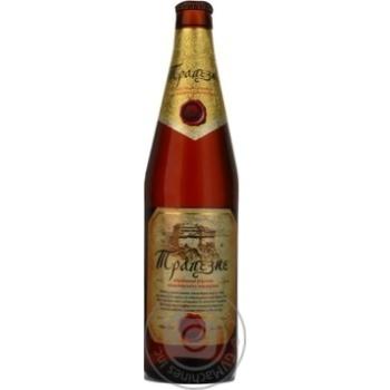 Пиво Первая приватная броварня Трапезное светлое фильтрованоое пастеризованное стеклянная бутылка 5.7%об. 500мл Украина