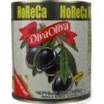 Маслины Дива Олива черные с косточкой 3250мл Испания