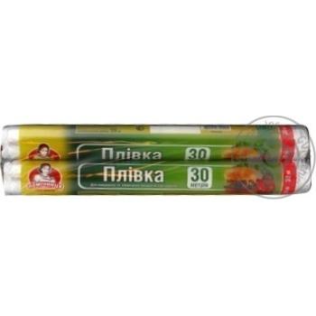 Плівка Помічниця для пакування продуктів харчування 30смх30м - купити, ціни на Фуршет - фото 4