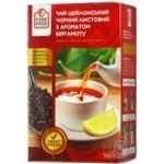 Tea Fine food with oil of bergamot black loose 100g cardboard packaging Ukraine
