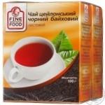 Чай Файн фуд черное рассыпной 200г Украина
