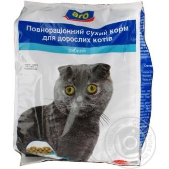 Корм Aro сухой полноценный с рыбой для котов 2500г - купить, цены на Метро - фото 3