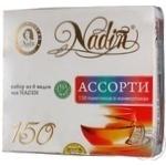 Чай Надин Ассорти 6 видов в пакетиках 150х1.75г Россия