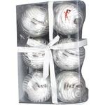 Набір куль новорічних пластик 6см 6шт арт195-K57