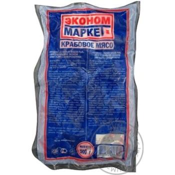 Крабове м'ясо Економ Маркет заморожені 500г - купити, ціни на Novus - фото 1