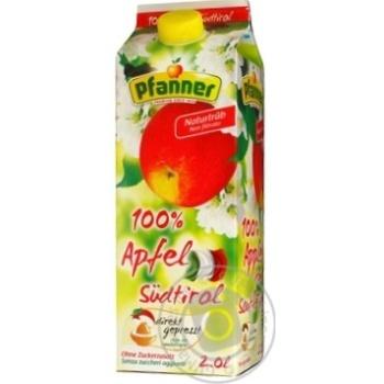Сок Пфаннер яблочный с Южного Тироля 100% 2л Пфанер Австрия