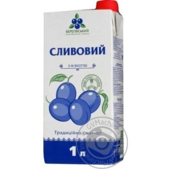 Нектар Береговский сливовый с мякотью стерилизованный гомогенизированный тетрапакет 1000мл Украина