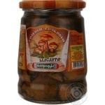 Mushrooms suillus Ekoproduct salt 580ml glass jar Russia