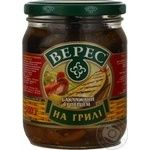 Vegetables eggplant Veres pepper canned 500g glass jar Ukraine