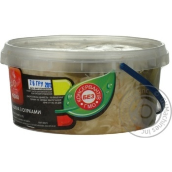 Salad cabbage Chudova marka pickled 400g bucket