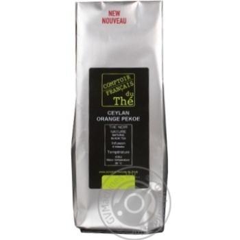 Чай Комтуар Цейлон Оранж Пекое черный листовой 100г Франция