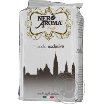 Кофе Нэро Арома Эксклюзив натуральный жареный молотый 250г Италия - купить, цены на Novus - фото 3