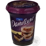Dessert Danissimo milky with taste of tiramisu chilled 9.5% 340g plastic cup Ukraine
