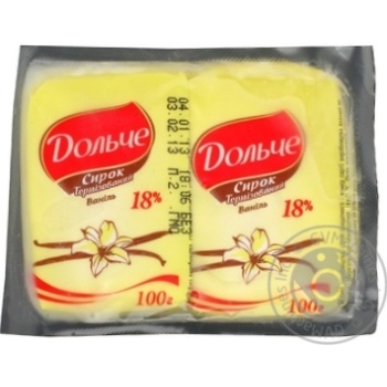 Cottage cheese Dolce with vanilla 20% 200g Ukraine
