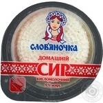 Творог Славяночка домашний кисломолочный 9% 170г Украина