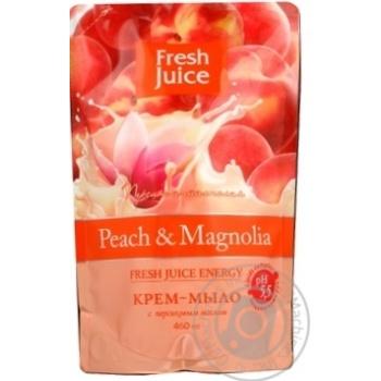 Мыло жидкое Fresh juice персик и магнолия дой-пак 460мл - купить, цены на Novus - фото 4