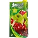 Нектар Добрий яблучно-вишневий освітлений 2л Україна
