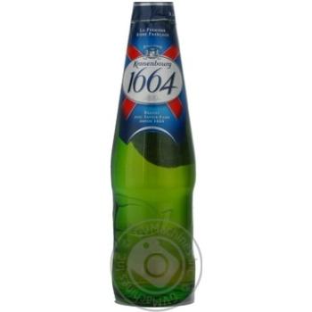 Пиво Кроненбург 1664 светлое 5.0%об. стеклянная бутылка 330мл Россия