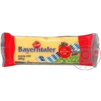 Сыр Цотт Байернталер эмменталь твердый 45% 200г Германия