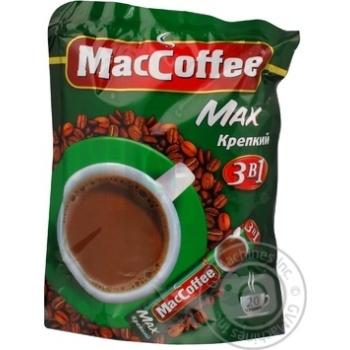 Напій кавовий МакКофе 3в1 Макс міцний розчинний у стіках 20х16г Сінгапур
