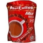 Instant coffee drink MacCofee Classic 3in1 with sugar and sweetener 16g Singapore