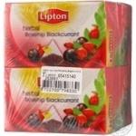 Напиток Липтон Шиповник Черная смородина фруктово-травяной ароматизированный в пакетиках 2х40г Россия