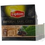 Черный чай Липтон Империал Эрл Грей с лепестками цветов листовой в пакетиках 2х38г Россия