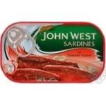 Сардины John West в томатном соусе 120г Португалия