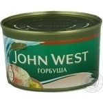Fish pink salmon Jonh west canned 213g can Usa