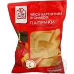Chips Fine food potato with paprika 80g Ukraine
