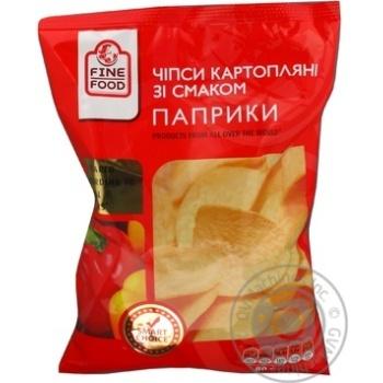 Чипсы Файн Фуд с паприкой 80г Украина