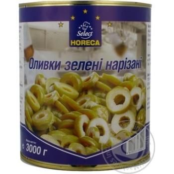 оливка Хорека селект зеленый консервированная 3000мл железная банка