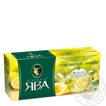 Чай Принцеса Ява зелений з лимоном у пакетиках 1уп.х25пак 50г - купити, ціни на Ашан - фото 3