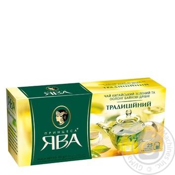 Чай зелений Принцеса Ява Традиційний оолонг 25шт 1,8г - купити, ціни на Novus - фото 1