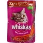 Консерва для котів Whiskas Желе Яловичина,Печінка пауч 100г