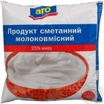 Sour cream product Aro chilled 25% 400g sachet Ukraine