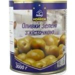 Оливки Хорека Селект зелені з кісточкою 3000г Іспанія