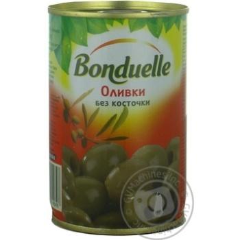 Оливки Бондюэль зеленые без косточки 314мл Испания