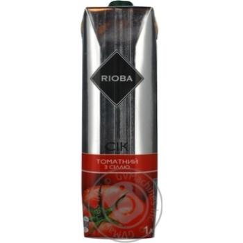 Сок Риоба томатный с солью 1л Украина